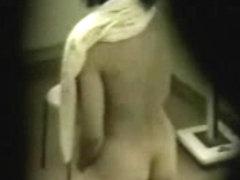 Spying my girlfriend masturbating standing