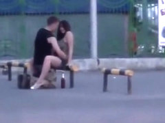 Couple gets Frisky in the Street