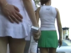 Only gorgeous and ardent babes in this upskirt video