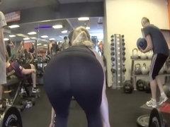 Big ass bent over for deadlift exercise