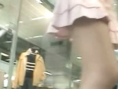 Upskirt film made by a perverted voyeur guy