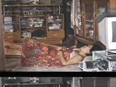 Asian couple old retro homemade sextape