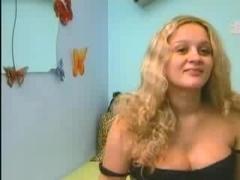 Cute preggo girl in webcam