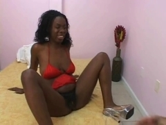 Hirsute ebony slut fucked well