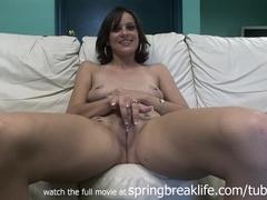 SpringBreakLife Video: Cute Girl Takes It All Off