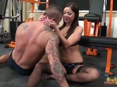 Tits smothering femdom with busty Angelica Heart