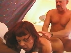 very hot threesome fuck with milf