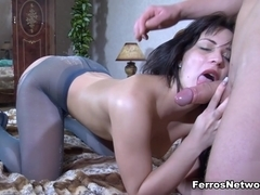 Anal-Pantyhose Video: April B and Clem