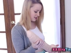 Toying petite teen gets fingered