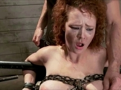 alluring redhead used two