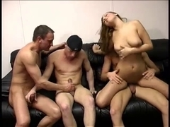 Male+Male+Female Bi-Sexual Trio