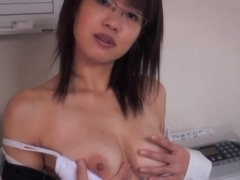 Sexually Excited little oriental bonks and rubs her wet crack with fake penis and sex tools