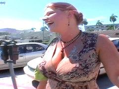 Heavy chested whore Eden sucks fat cock in pov