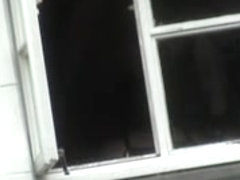 Heavy titted amateur spied on the nasty window voyeur porn