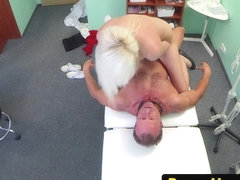 Real patient riding doctors dick during exam