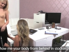 FemaleAgent Hot 18 year old recieves her first orgasms