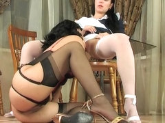 LacyNylons Movie: Laura and Rosa A