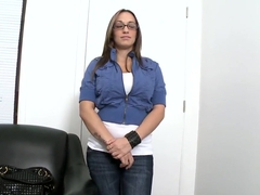 Shy Jasmin with huge spaniel ears came for a porn casting