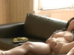 Horny woman spreads legs and fingers