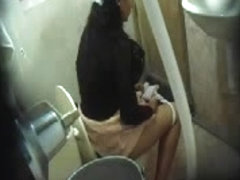 Toilet camera is recording hot bitches peeing