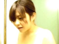 Asian brunette cutie downblouse spy cam shot on a job interview