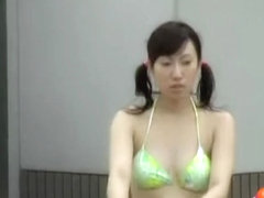 Bathetic oriental sweetie experiences her first street sharking adventure