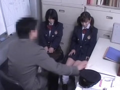 Two Jap teen sluts banged in Japanese hardcore video