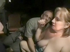 Aged banged wife takes 'em all at swing club