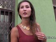 Hungarian amateur fucks in public