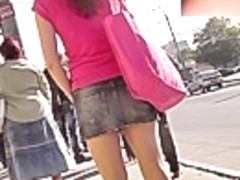 Spectacular denim upskirt movie