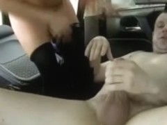 Hooker drilled in a car