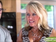Tina Layne shares a cock and its cum with stepmum Tia Layne