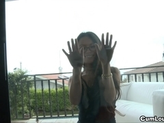 Oriental acquires Screwed and Creamed on her cute Face