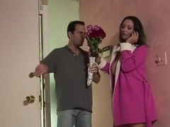 Hot MILF reamed by delivery dude