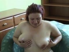big beautiful woman carine masturbating with toy