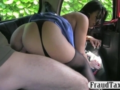 Big boobs nurse fucked and facialed for a free taxi fare