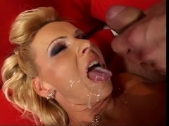 Breasty blond mother i'd like to fuck bonks hard and savors ejaculation on her tongue