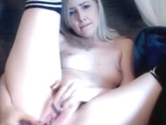 Incredible Webcam record with Blonde scenes