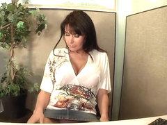 Busty milf Eva Karera gives lusty head in office