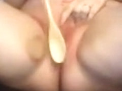 50 wooden spoon whacks to cunt and clit