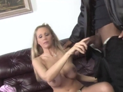 Son watching how mom Julia Ann takes a BBC