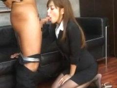 Incredible Japanese girl Ria Hoshino in Amazing Secretary JAV clip