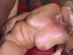 White blondie Jordan Kingsley fucked by black dude
