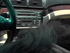 Michelle Heart & Preston Parker relax in a car