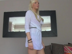 FakeAgentUK Hot blonde amateur tricked in casting