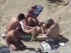 gangbang at the beach