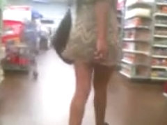 Sexy legs in brown dress