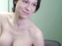Me showing my huge bust on webcam