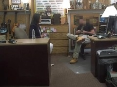 Seductive customers wife banged by pawn man at the pawnshop