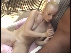 Favourable stud acquires a cook jerking from a golden-haired chick